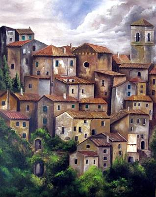 Painting - The Old Village by Katia Aho