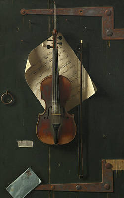 Painting - The Old Violin by William Harnett