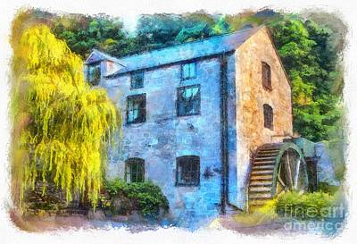 North Wales Digital Art - The Old Water Mill  by Chris Evans