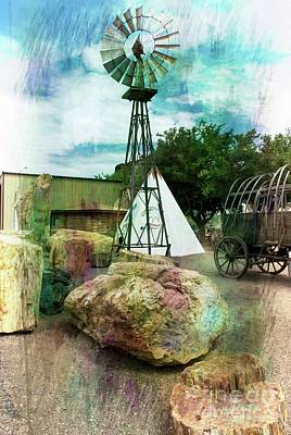 Mixed Media - The Old West by Bob Pardue