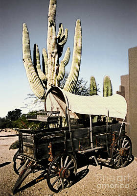 Wagon Train Digital Art - The Old West by Linda  Parker