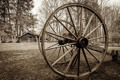 Culture Photograph - The Old Wheel by Michael Scott
