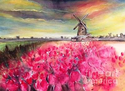 Painting - The Old Windmill - Original Sold by Therese Alcorn