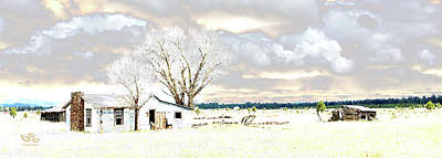 The Old Winter Homestead Art Print