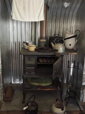The Old Wood Stove. Art Print