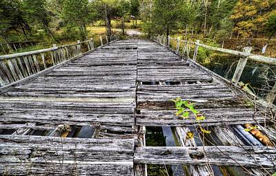 Photograph - The Old Wooden Bridge by JC Findley