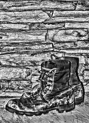 Photograph - The Old Work Boots by Cathy Harper