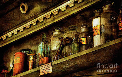 The Village Digital Art - The Olde Apothecary Shop by Lois Bryan