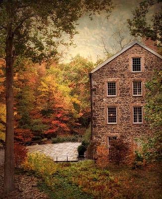Grist Mill Photograph - The Olde Country Mill by Jessica Jenney
