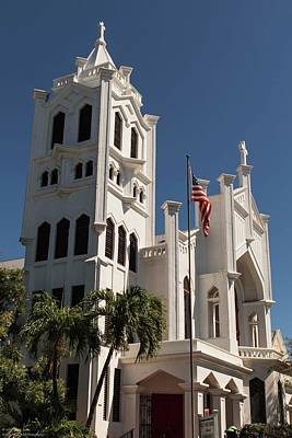 Photograph - The Oldest Church In Key West  by Hany J