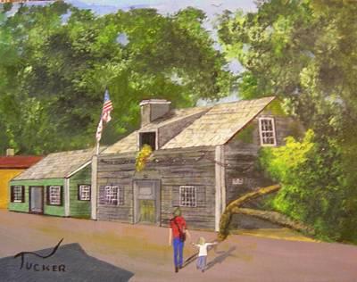 The Oldest Wooden School House Art Print by David Earl Tucker