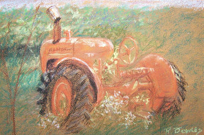 Pastel - The Ol'e Allis Chalmers by Ron Bowles