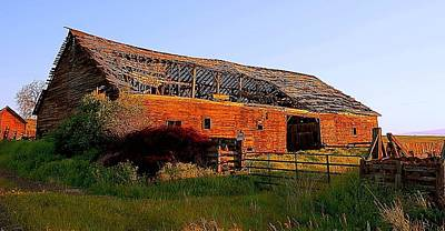 Photograph - The Ole Barn by Steve Warnstaff