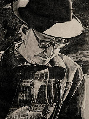 Drawing - The Ole Man In The Park by Cheryl Poland