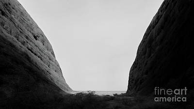 Photograph -  The Olga Gap Bw by Tim Richards