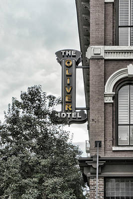 Photograph - The Oliver Hotel by Sharon Popek