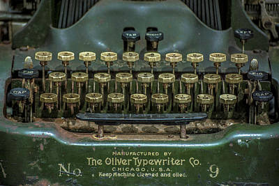 The Oliver Typewriter  Art Print by Rosette Doyle