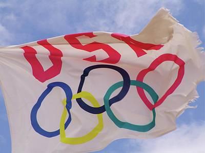 The Olympic Flag Art Print by Florene Welebny