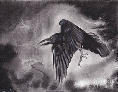 Drawing - The Omen by Michaeline McDonald