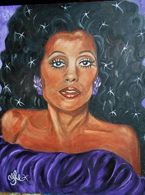 Painting - The One And Only Diana Ross by Yesi Casanova