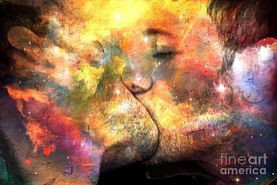 Nude Digital Art - The One Kiss  by Mark Ashkenazi