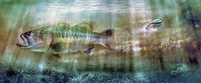 Angling Photograph - The One That Got Away by Mal Bray