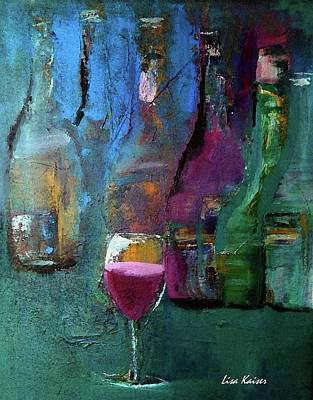 Bottle Painting - The One That Stands Out by Lisa Kaiser
