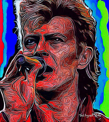 Painting - The One, The Only, David Bowie by Ted Azriel