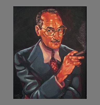 Groucho Marx Painting - The One, The Only by Stuart Troxel