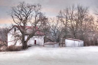 Barn Digital Art - The Onion Snow by Lori Deiter