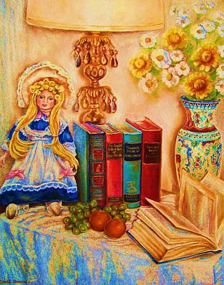 Painting - The Open Book by Carole Spandau