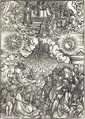 Drawing - The Opening Of The Fifth And Sixth Seals by Albrecht Durer