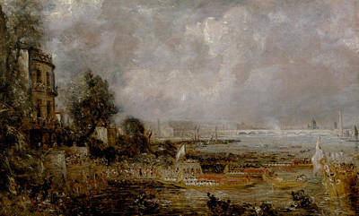 Painting - The Opening Of Waterloo Bridge by John Constable