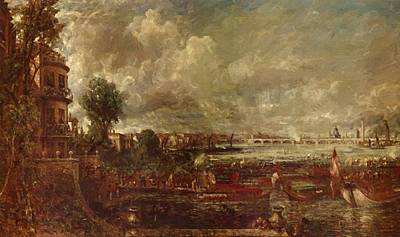 Painting - The Opening Of Waterloo Bridge Seen From Whitehall Stairs by Constable John