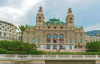Photograph - The Opera House In Monaco by Marek Poplawski