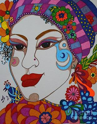 Painting - The Opera Singer by Alison Caltrider