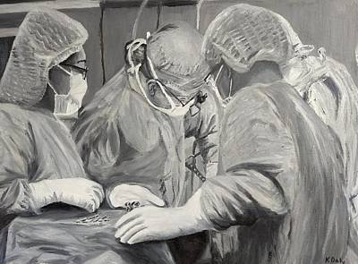 Painting - The Operation by Kevin Daly