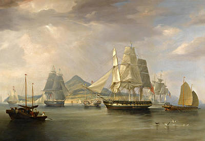 Painting - The Opium Ships At Lintin. China by William John Huggins