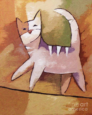 Cat Artwork Painting - The Optimist by Lutz Baar