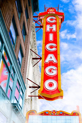 Photograph - The Opulent Chicago Theatre by Mark E Tisdale