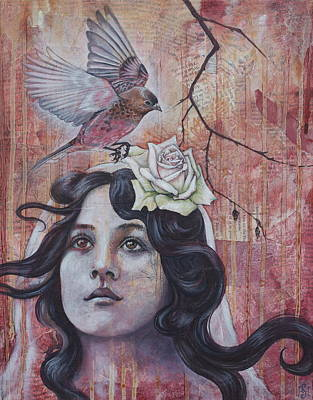 Mixed Media - The Oracle by Sheri Howe