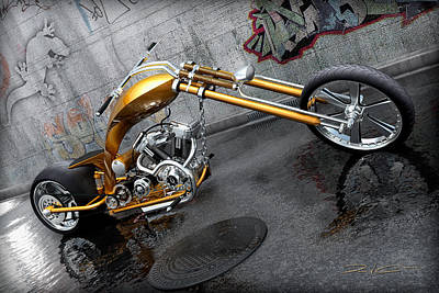 Digital Art - The Orange City Chopper by David Collins
