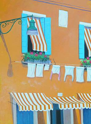 Painting - The Orange House In Burano, Venice by Jan Matson