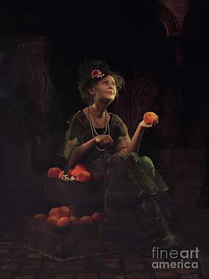 Mixed Media - The Orange Lady by Shanina Conway
