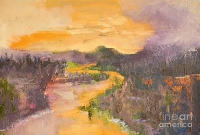 Bigsky Painting - The Orange River by Jodi Monahan