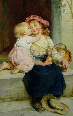 The Orange Seller Print by  Frederick Morgan
