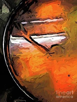 Digital Art - The Orange Tins Underwater In The Pot by Jackie VanO