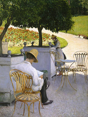 Painting - The Orange Trees by Gustave Caillebotte