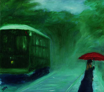 Painting - The Orange Umbrella 1888 by David McGhee