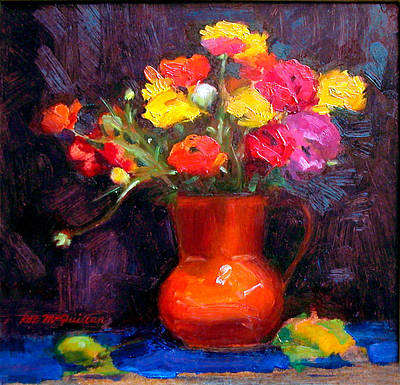 Painting - The Orange Vase by Roz McQuillan